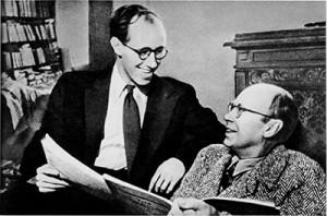 Avec Mstislav Rostropovitch, Moscou 1952