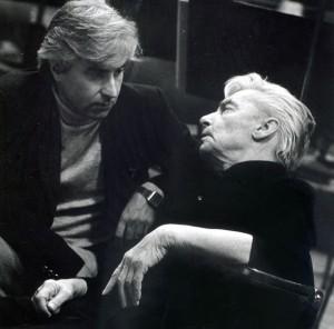 Avec Herbert von Karajan